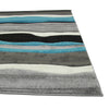 Stunning Thick Wave Rug Blue Grey
