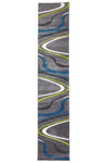 Ultra Modern Swirl Rug Grey Blue Green - Fantastic Rugs