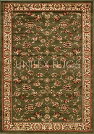 Traditional Floral Design Rug Green - Fantastic Rugs