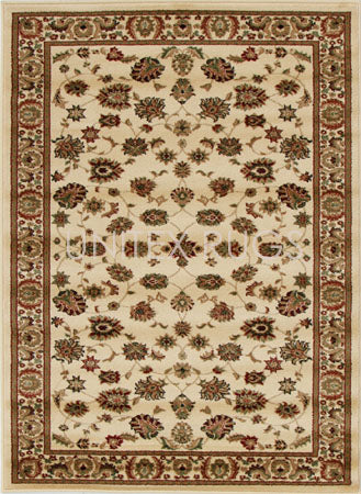 Traditional Floral Design Rug Ivory - Fantastic Rugs
