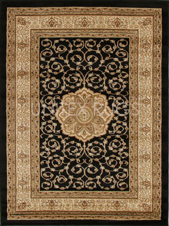 Medallion Classic Design Rug Black - Fantastic Rugs