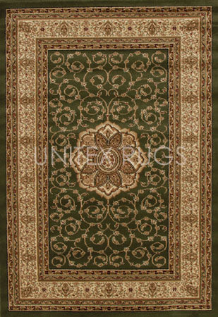 Medallion Classic Design Rug Green