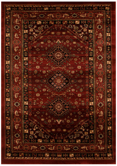 Traditional Shiraz Design Rug Burgundy Red - Fantastic Rugs