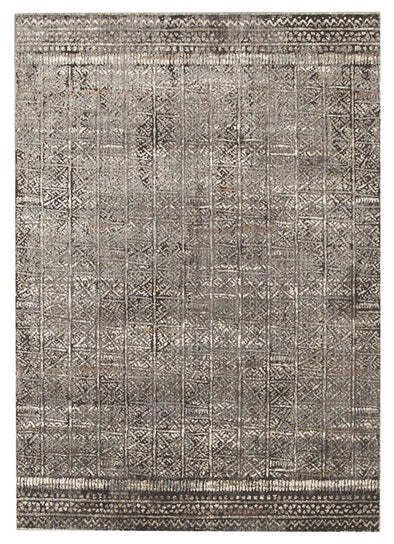 Fluid Evening Modern Grey Rug