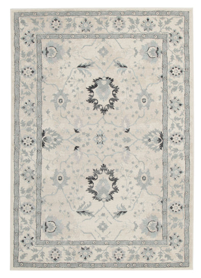 Nain Persian Design Rug Bone Blue Navy - Fantastic Rugs