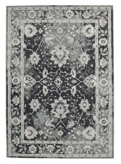 Nain Persian Design Rug Navy Blue Grey - Fantastic Rugs