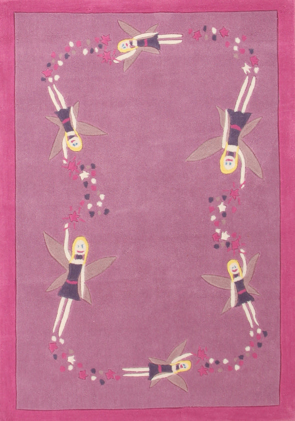 Gorgeous Girls Pink Fairy Rug - Fantastic Rugs