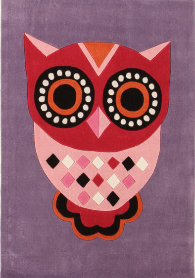 Gorgeous Purple Owl Kids Rug - Fantastic Rugs