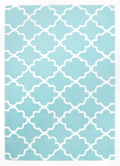 Kids Trellis Design Rug Soft Blue - Fantastic Rugs