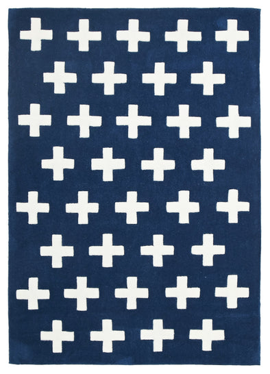 Nordic Crosses Rug Navy