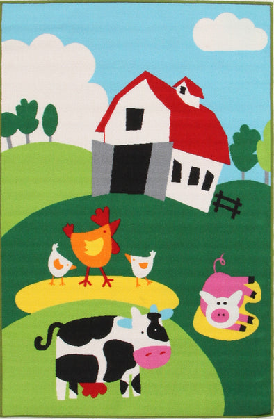Kids Non Slip Barn Yard Farm Rug - Fantastic Rugs
