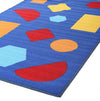 Kids Non Slip Shapes Rug Blue - Fantastic Rugs