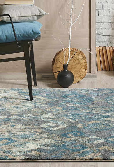 Julia Urban Stunning Rug Blue Grey - Fantastic Rugs