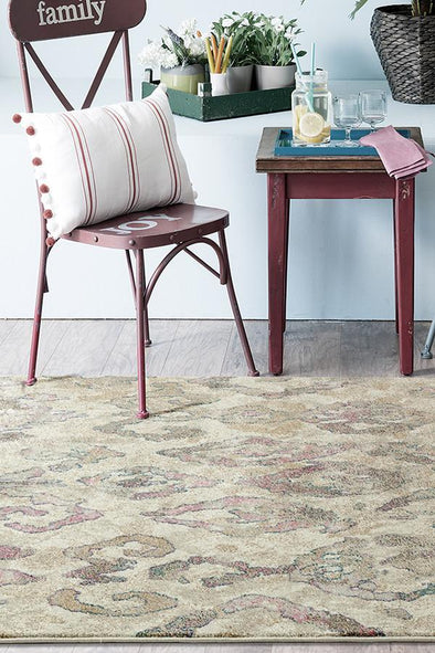 Kaitlin Soft Pink and Beige Rug - Fantastic Rugs
