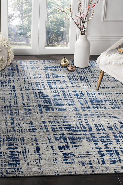 Ashley Abstract Modern Blue Grey Rug - Fantastic Rugs