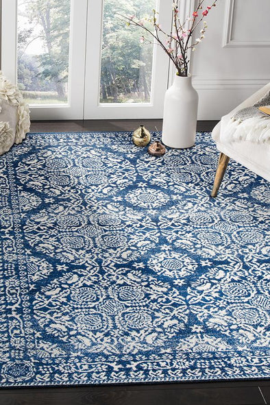 Gwyneth Stunning Transitional Navy Rug - Fantastic Rugs