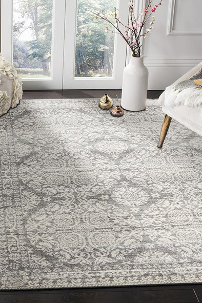 Gwyneth Stunning Transitional Silver Rug - Fantastic Rugs