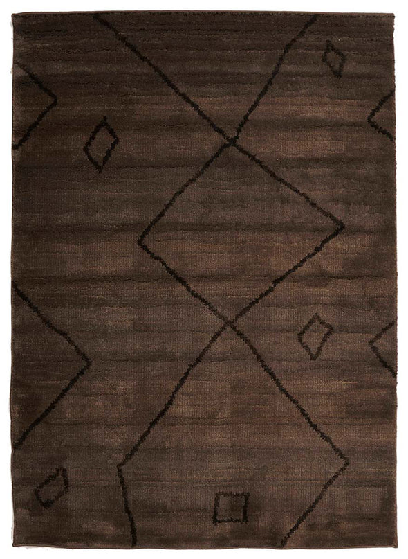 Moroccan Large Diamond Design Rug Chocolate - Fantastic Rugs