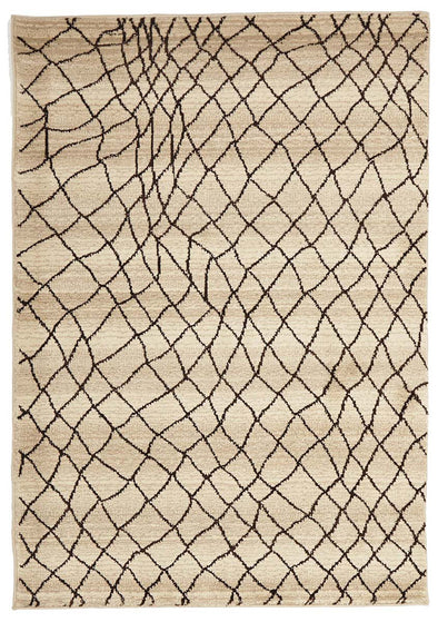 Moroccan Web Design Rug Cream - Fantastic Rugs