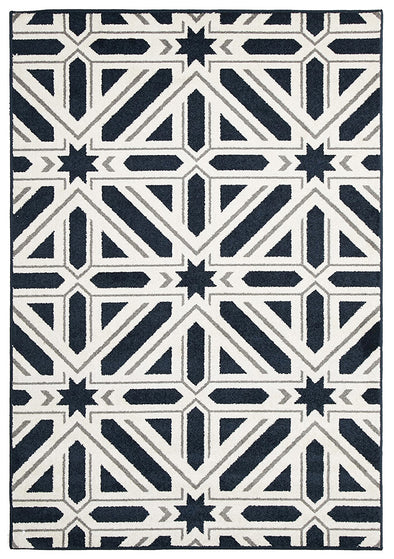 Indoor Outdoor Xenia Rug Navy - Fantastic Rugs