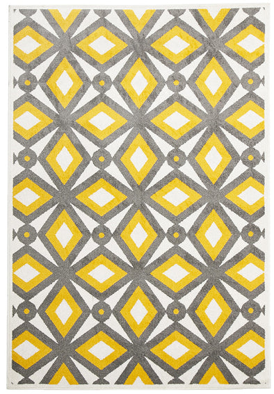 Indoor Outdoor Nadia Rug Grey Yellow - Fantastic Rugs