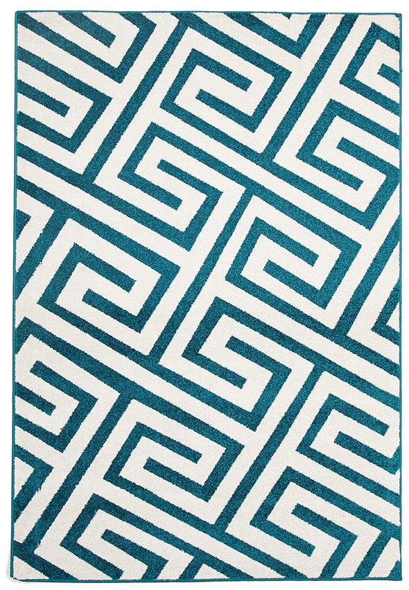 Indoor Outdoor Dolce Rug Peacock Blue - Fantastic Rugs