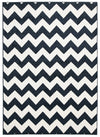 Indoor Outdoor Zig Zag Rug Navy - Fantastic Rugs
