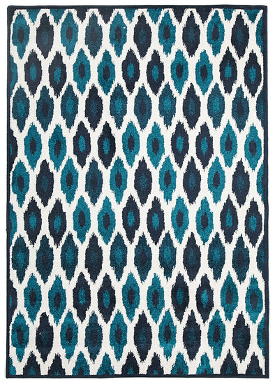 Indoor Outdoor York Rug Blue Navy - Fantastic Rugs