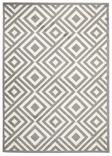 Indoor Outdoor Matrix Rug Grey - Fantastic Rugs