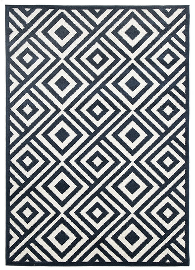Indoor Outdoor Matrix Rug Navy