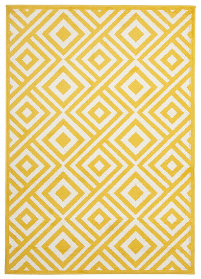 Indoor Outdoor Matrix Rug Yellow - Fantastic Rugs