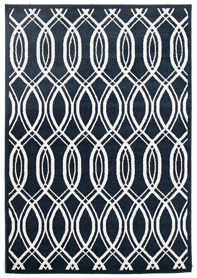 Indoor Outdoor Lucid Rug Navy - Fantastic Rugs