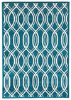 Indoor Outdoor Lucid Rug Peacock Blue - Fantastic Rugs