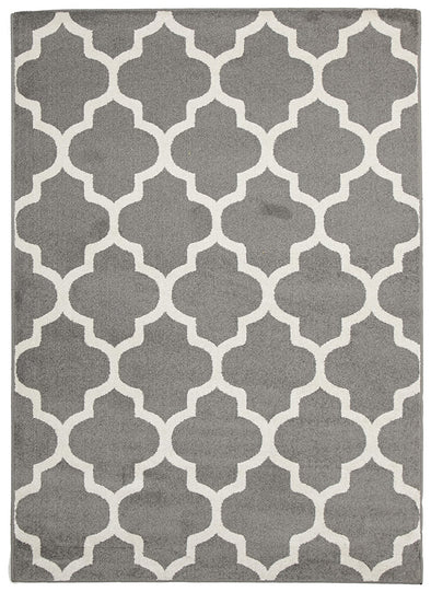 Indoor Outdoor Morocco Rug Grey - Fantastic Rugs