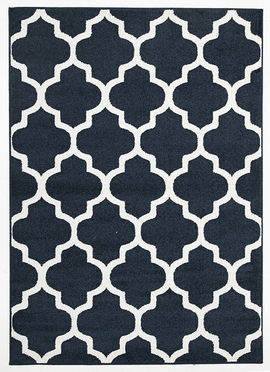 Indoor Outdoor Morocco Rug Navy - Fantastic Rugs