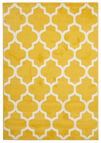 Indoor Outdoor Morocco Rug Yellow - Fantastic Rugs