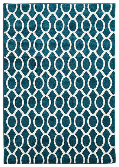 Indoor Outdoor Neo Rug Peacock Blue - Fantastic Rugs
