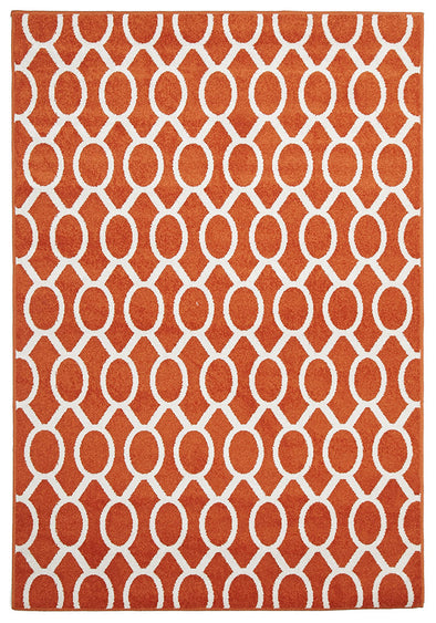 Indoor Outdoor Neo Rug Rust - Fantastic Rugs