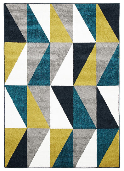 Indoor Outdoor Mica Rug Blue Citrus Grey - Fantastic Rugs