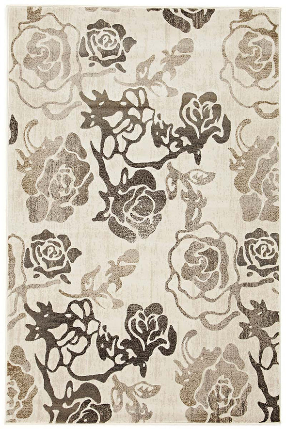 Rose Garden White Rug - Fantastic Rugs
