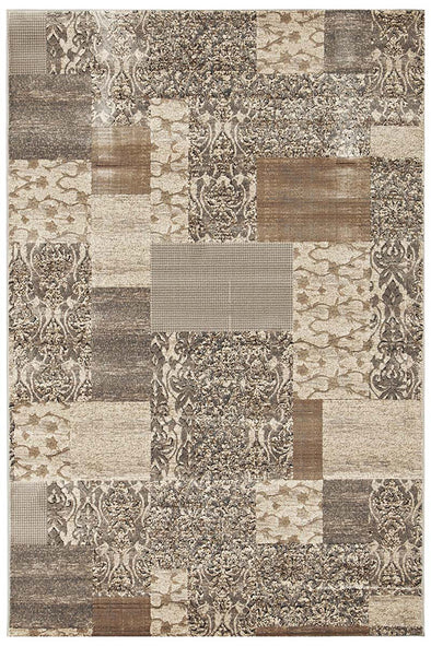Patchwork Rug Grey Rug