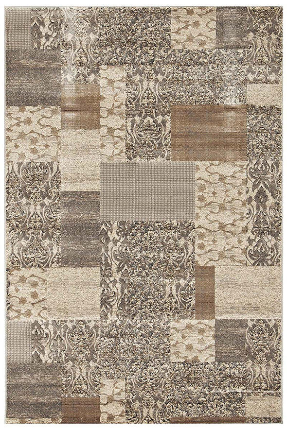 Patchwork Rug Grey Rug - Fantastic Rugs