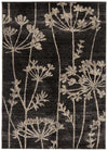 Delicate Floral Pattered Rug Grey