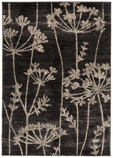 Delicate Floral Pattered Rug Grey - Fantastic Rugs