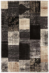 Patchwork Design Grey Rug - Fantastic Rugs