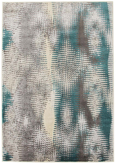 Hannah Matrix Rug Blue Grey - Fantastic Rugs