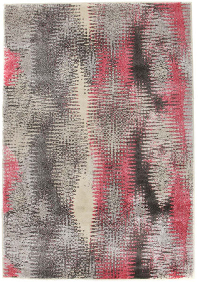 Hannah Matrix Rug Pink Grey - Fantastic Rugs