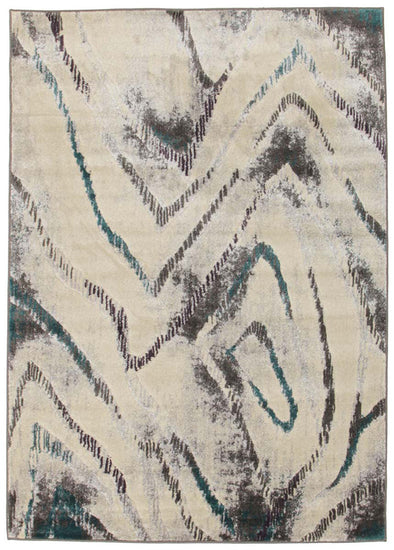 Dillon Geo Modern Blue Grey Rug - Fantastic Rugs
