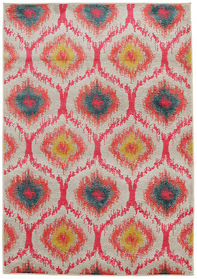 Gypsy Heirloom Rug Pink Yellow Grey - Fantastic Rugs