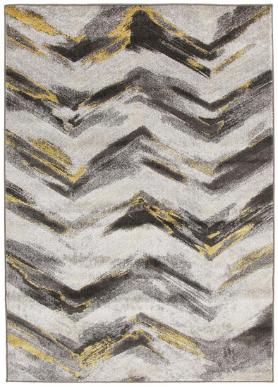 Ella Chevron Modern Rug Grey Yellow - Fantastic Rugs